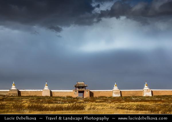 Asia - Mongolia - Монгол улс - Land of Vast Steppes & Kind Nomads - Övörkhangai Province - Kharkhorin & adjacent to ancient city of Karakorum - Erdene Zuu Khiid - Эрдэнэ Зуу - Tibetan Buddhist Monastery - Most ancient surviving Buddhist monastery in Mongolia