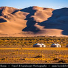 Asia - Mongolia - Монгол улс - Gobi Gurvansaikhan National Park - Говь гурван сайхан байгалийн цогцолбор газар - Gobi three beauties nature complex - Gobi Desert - Endless Sea of Khongor Sand Dunes - Singing Dunes - Largest & most spectacular sand dunes in Mongolia - Up to 800 m high, 20 km wide & about 100 km long