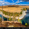Asia - Mongolia - Монгол улс - Land of Vast Steppes & Kind Nomads - Khangai Mountains - Orkhon Valley - Orkhon River - Орхон гол - Orkhon gol - Beautiful River Bend