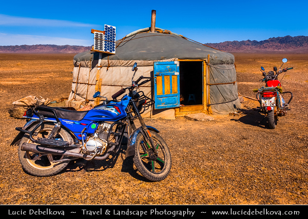 Asia - Mongolia - Монгол улс - Land of Vast Steppes & Kind Nomads - Gobi Gurvansaikhan National Park - Говь гурван сайхан байгалийн цогцолбор газар - Gobi Desert - Traditional Life in Ger (Yurt)
