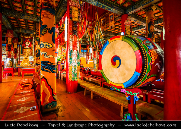 Asia - Mongolia - Монгол улс - Land of Vast Steppes & Kind Nomads - Northern Mongolia - Selenge Province - Amarbayasgalant Monastery - Tibetan Buddhist Monastery of Tranquil Felicity - Амарбаясгалант хийд - Amurbayasqulangtu keyid - Once one of the three largest Buddhist centres in Mongolia - Located near Selenge River in the Iven Valley, at the foot of Mount Büren-Khaan in Baruunbüren sum (district)