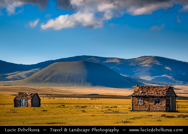 Asia - Mongolia - Монгол улс - Land of Vast Steppes & Kind Nomads - Khövsgöl Province - Хөвсгөл - Northernmost of the 21 provinces - Landscape of the North - Stunning countryside bathing in warm autumn colors
