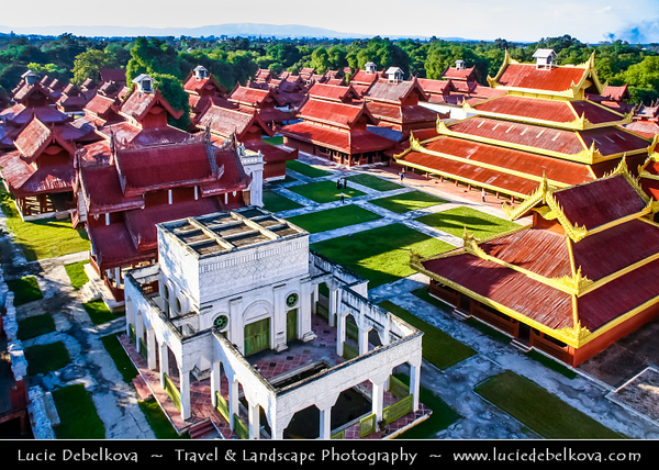 Asia - Myanmar - Burma - Mandalay - Mandalay Royal Palace - Last royal palace of the last Burmese monarchy constructed, between 1857 and 1859 as part of King Mindon's founding of the new royal capital city of Mandalay