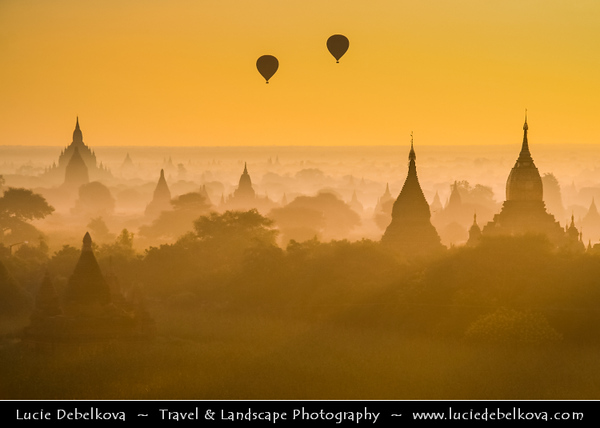 Asia - Myanmar - Burma - Mandalay Region - Bagan - ပုဂံ - Pagan - Ancient city located on the banks of the Ayeyarwady (Irrawaddy) River - Home to the largest and densest concentration of Buddhist temples, pagodas, stupas and monasteries