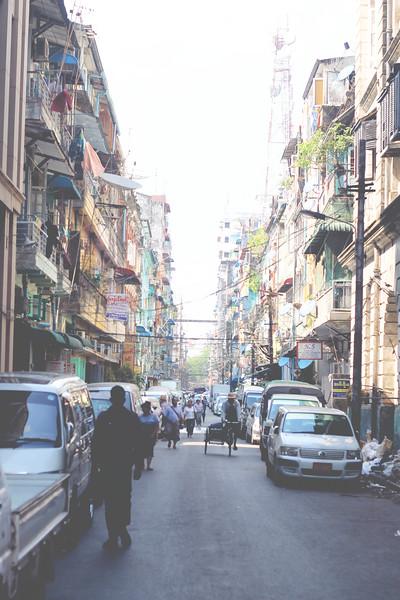 Streets of Yangon. April 2015
