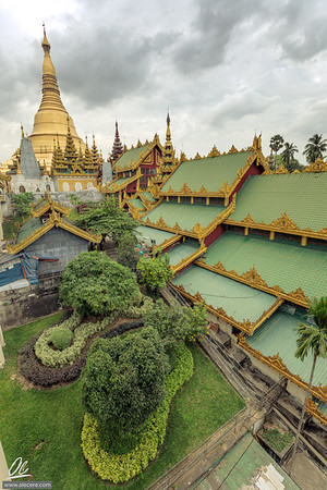 Roofs and the Golden pagoda