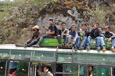 full Nepalese bus