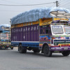Nepalese trucks are very colorful
