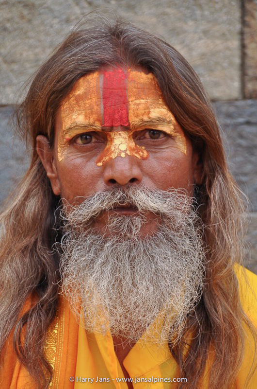 Sadhu (holy man in Nepal) at Pashupatinath temple