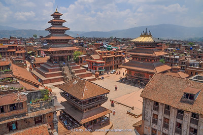 view over Taumadhi Tole with Nyatapola Temple (left)