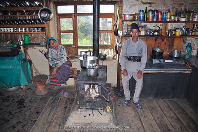kitchen at Deurali tea house, 2625m