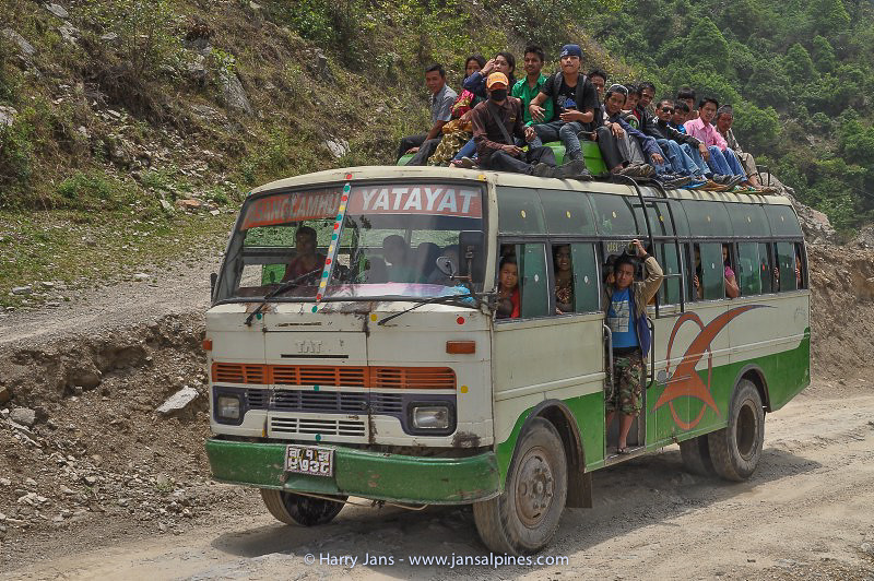 full Nepalese bus