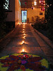 On the first day of the Festival of Tihaar, the way for Laxmi (goddess of prosperity) to enter the house is lit and decorations are placed to tempt her in.