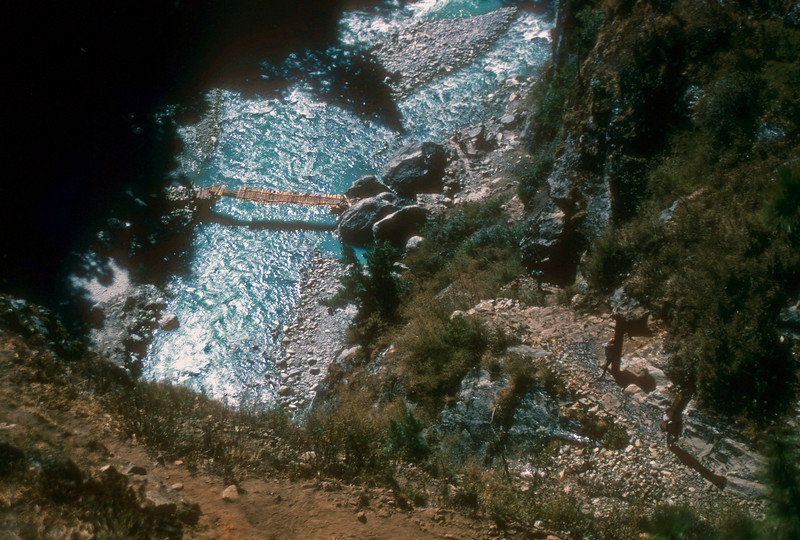 The trail to Namche goes up and down alot. But mostly up..Kumbu, Nepal