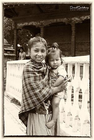 Woman with Baby #1s - Kathmandu, Nepal