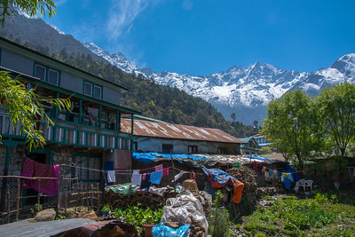 The view from our porter's home in Lukla