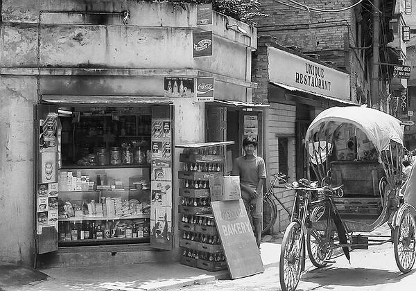 Man in front of Store - Kathmandu, Nepal