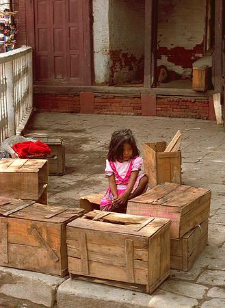 Young Girl on Street #1 - Kathmandu, Nepal