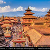 Asia - Nepal - Kathmandu Valley - Lalitpur city - Patan Durbar Square - UNESCO World Heritage Sites - Former royal palace complex, enchanting mélange of palace buildings, artistic courtyards and full of Hindu Temples and Buddhist monuments with bronze gateways, guardian deities and wonderful carvings