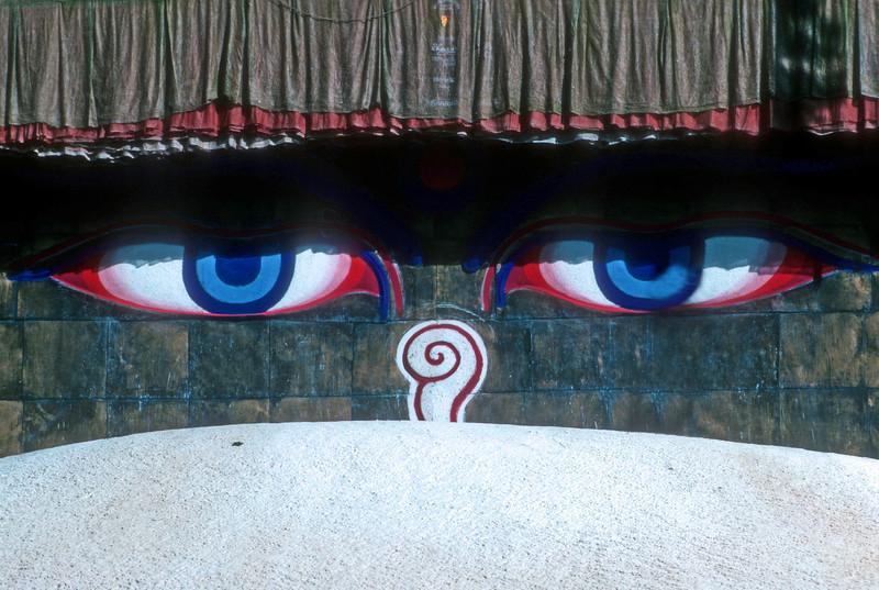 Budda Sees all, Buddist temple Bhadgaon  Nepal