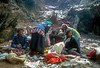 A clan of Tibetian traders that walked 7 days to get to the Saturday market in Namche Bazar, Kumbu, Nepal