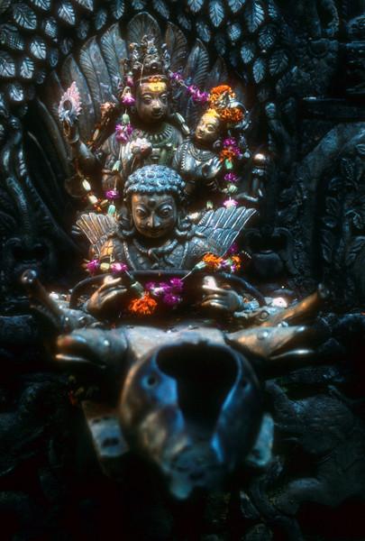 Hindu prayers get offered here. Kathmandu, Nepal