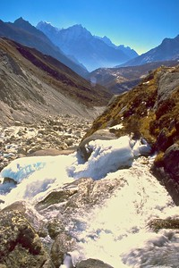 Glacial runoff in the Himalayas