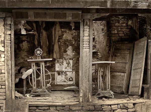 Man Sleeping in Shop #1s - Kathmandu, Nepal