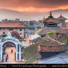 Asia - Nepal - Kathmandu Valley - Bhaktapur - Bhadgaon - Khwopa - UNESCO World Heritage Sites - Ancient Newar town - One of 3 Royal cities with best preserved Palace courtyards and old city center in Nepal -  Bhaktapur Durbar Square - Main square of the city containing innumerable temples & other architectural showpieces