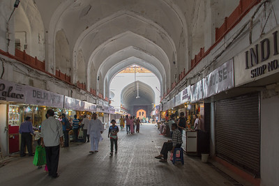 The  Chhatta Chowk, or covered bazaar, inside the gates of the Red Fort