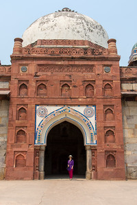 Outside the gate to Humayun's Tomb.