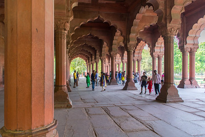 Portico of the Diwan-i-Aam, the Public Audience Hall of the Red Fort