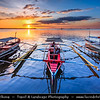 Asia - Philippines - Island country in the western Pacific Ocean - Luzon Island - City of Manila - Lungsod ng Maynila - Capital city - Traditional Boat at shores of Manila Bay - Natural harbor which serves the Port of Manila, considered to be one of the best natural harbors in Southeast Asia