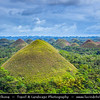Asia - Philippines - Island country in the western Pacific Ocean - Bohol Island - Chocolate Hills - Unusual geological formation - 1,776 hills spread over an area of more than 50 square kilometres (20 sq mi) - National Geological Monument - Proposed for inclusion in the UNESCO World Heritage List