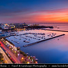 Asia - Philippines - Island country in the western Pacific Ocean - Luzon Island - City of Manila - Lungsod ng Maynila - Capital city - Cityscape along Manila Bay - Natural harbor which serves the Port of Manila, considered to be one of the best natural harbors in Southeast Asia