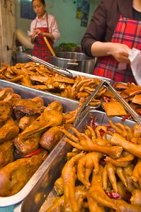 Poultry parts are popular snack items