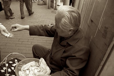 With no state welfare system, old people must do what they can to make ends meet.