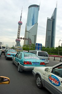 Traffic jam in Shanghai