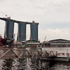 Marina Bay Sands Hotel - under construction, viewed from the Esplanade<br /> Singapore