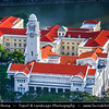 Singapore - Traditional cityscape along Singapore river - Classical Architecture Buildings of Former British Colony