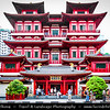 Singapore - Chinatown - Traditional Chinese quarters of town with lot of own charm - Niu Che Shui - 牛车水 - Kreta Ayer - Buddha Tooth Relic Temple Museum - One of the largest & most beautiful Buddhist Temple