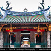 Singapore - Chinatown - Traditional Chinese quarters of town with lot of own charm - Niu Che Shui - 牛车水 - Kreta Ayer  - Thian Hock Keng Temple - 天福宫 - Tiānfú Gōng - Thian-hok-kiong - Temple of Heavenly Happiness - Tianfu Gong Temple - Oldest and most important Fukien or Hoklo (Hokkien) temple in Singapore. The main temple is dedicated to Mazu, the Taoist goddess of the sea and protector of all seamen, while a second temple at the back is a Buddhist one dedicated to Kuan Yin, the bodhisattva of mercy