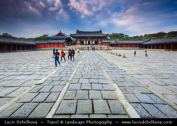 "Asia - South Korea - Seoul - Changgyeong Palace - Originally the Summer Palace of the Goryeo King - One of the ""Five Grand Palaces"" built by the kings of the Joseon Dynasty (1392–1897)"