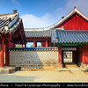 Asia - South Korea - Seoul - Jongmyo - UNESCO World Heritage Site - Chongmyo - Confucian shrine dedicated to the perpetuation of memorial services for the deceased kings and queens of the Korean Joseon Dynasty