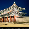 Asia - South Korea - Seoul - Gyeongbokgung Palace - Gyeongbok Palace - Main and largest royal palace of the Joseon dynasty built in 1395