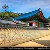 "Asia - South Korea - Seoul - Changdeokgung Palace - UNESCO World Heritage Site - Changdeok Palace - One of the ""Five Grand Palaces"" built by the kings of the Joseon Dynasty (1392–1897) set within a large park in Jongno-gu"