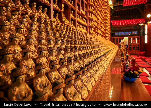 Asia - South Korea - Seoul - Bongeunsa Buddhist temple - Sprawling complex located on the slope of Sudo Mountain is a major temple of Korea's Jogye Buddhist Order - Seon or zen sect