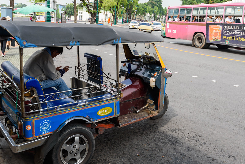 Tuk-Tuk on a Bangkok Street