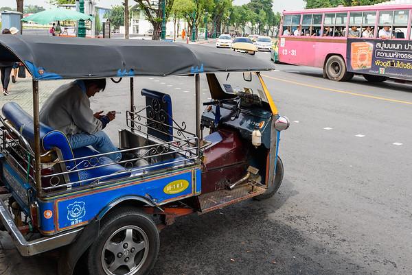 Tuk-Tuk on a Bangkok Street