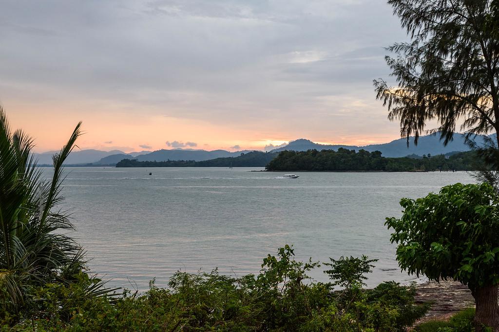 Sunset over Phang Nga Bay